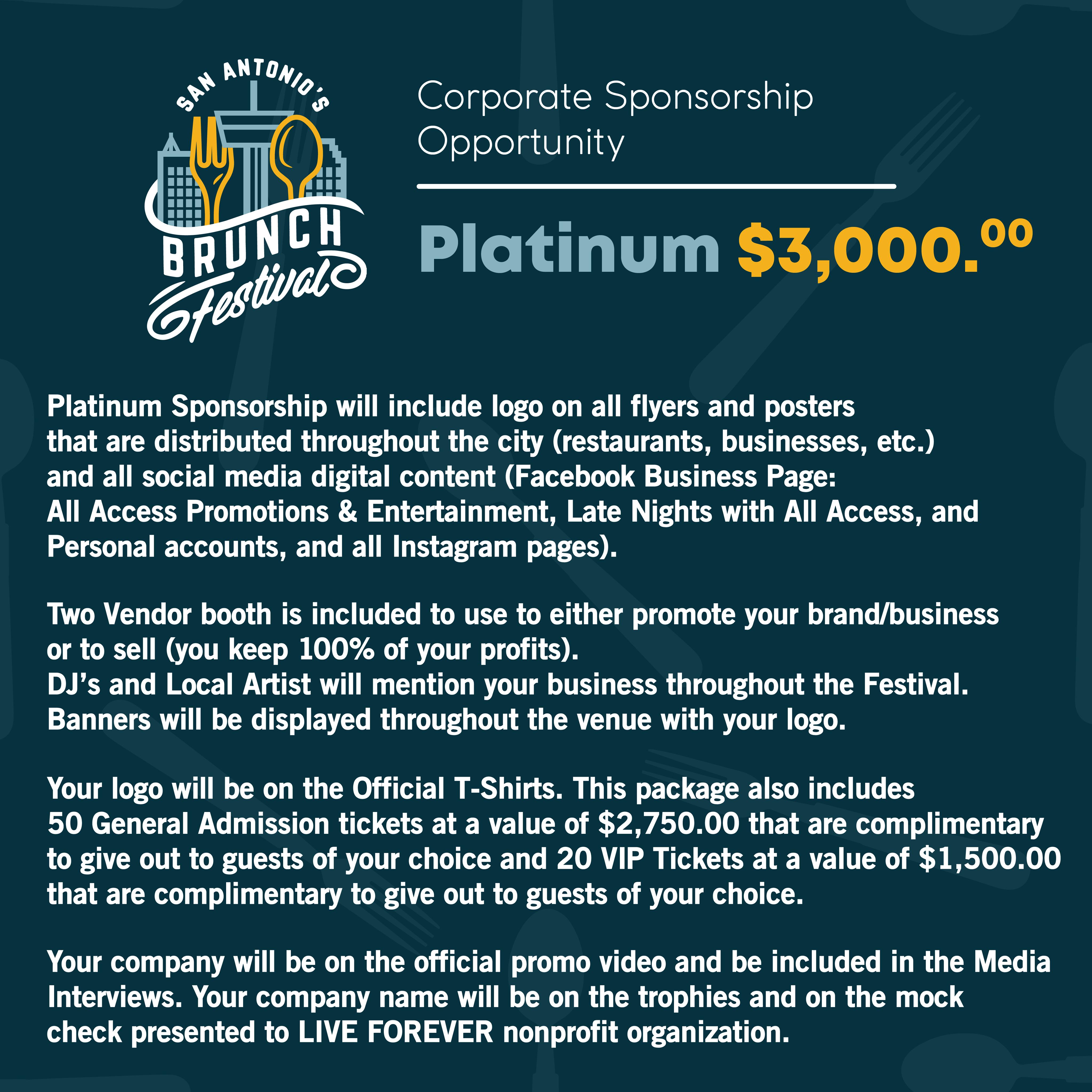 Platinum Sponsorship SA Brunch