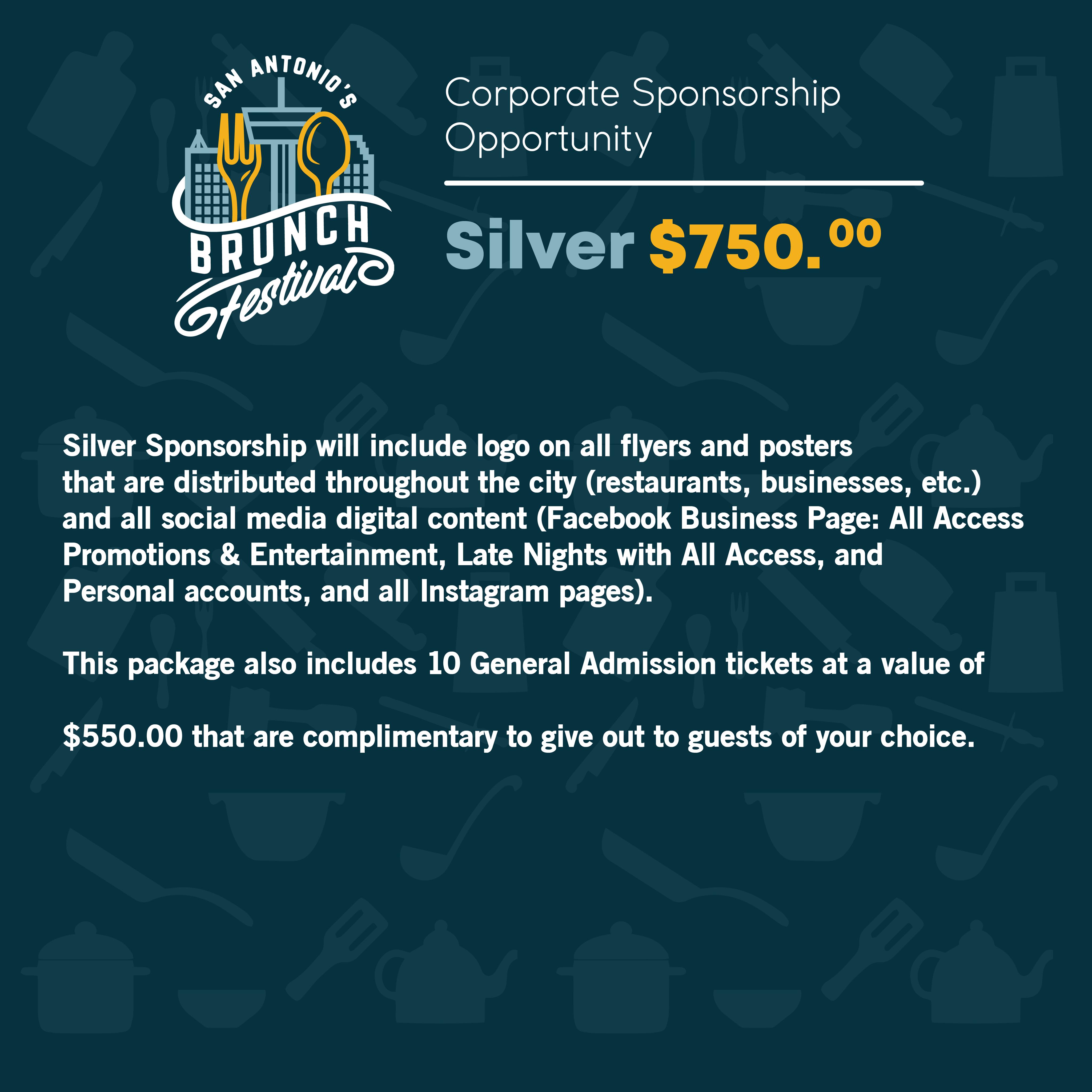 Silver Sponsorship SA Brunch